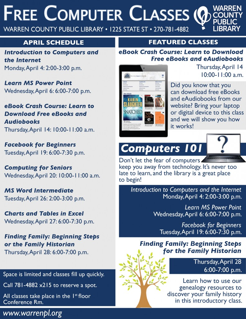 M APRIL classes